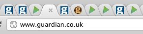 Our favicon amongst many others